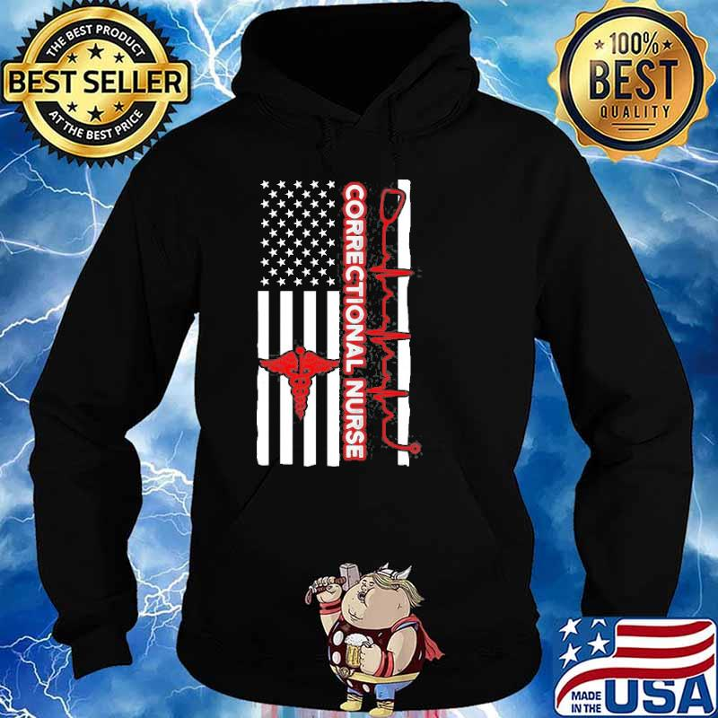 Correctional Nurse Usa Flag Shirt Hoodie