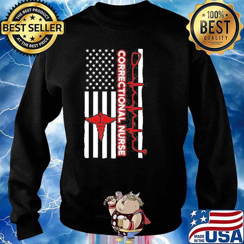 Correctional Nurse Usa Flag Shirt Sweater