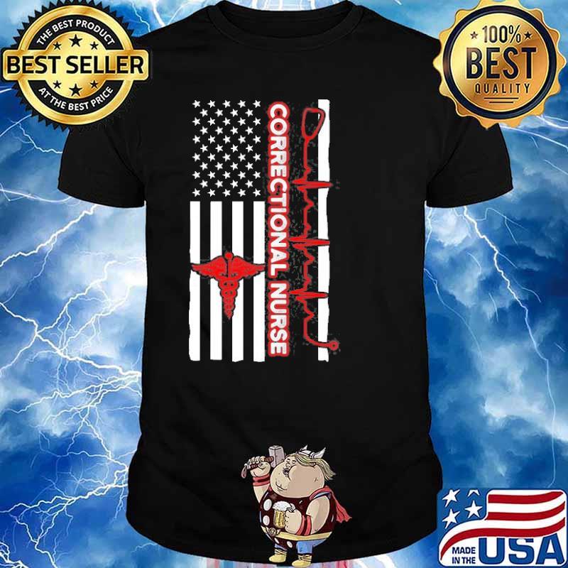 Correctional Nurse Usa Flag Shirt