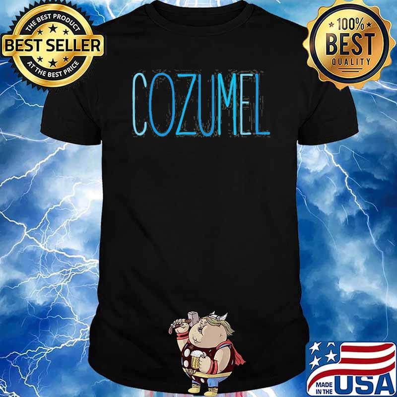 Cozumel Mexico Blue Lettering Shirt