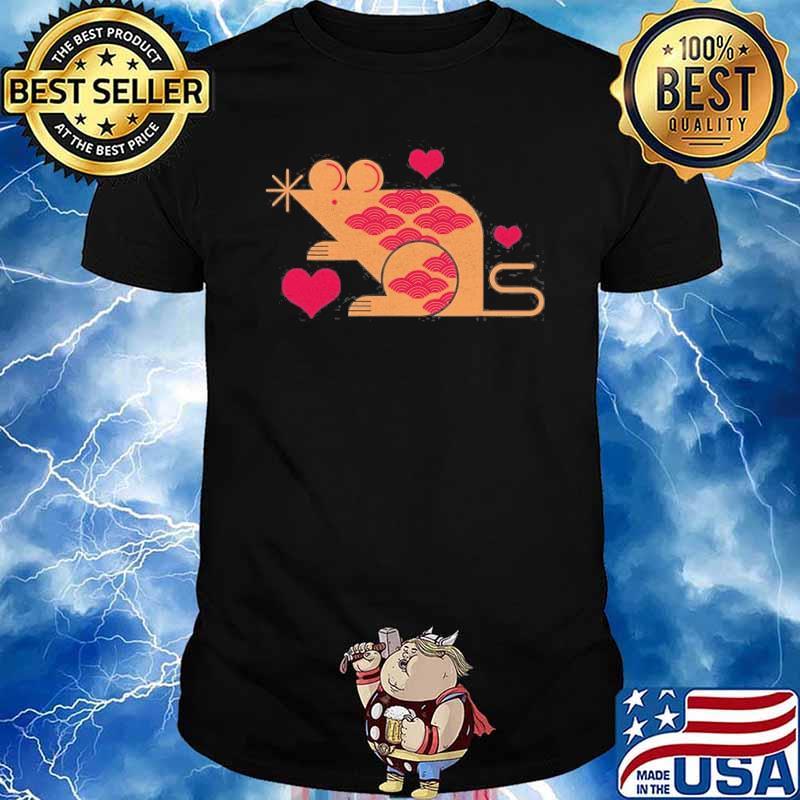 Cute Pet Rat With Hearts Animal Shirt