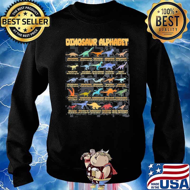 Dinosaur Alphabet Types Of Dinosaurs Dino Identification Shirt Sweater