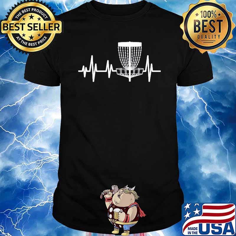 Disc Golf Heartbeat Frisbee Shirt