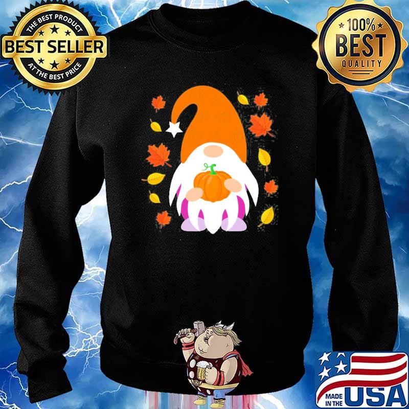 Fall Gnome Autumn Leaves Thanksgiving Shirt Sweater