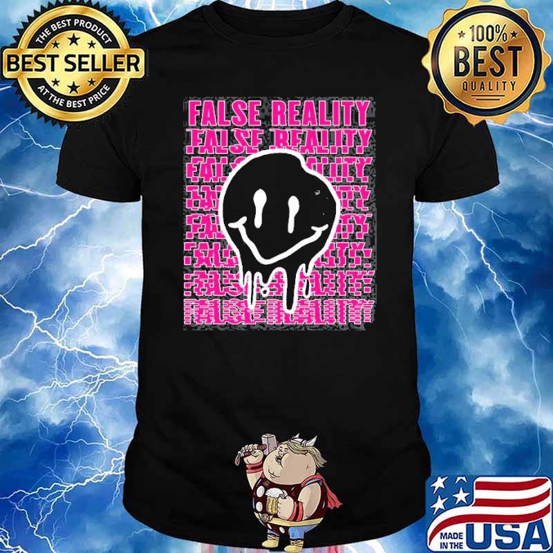 False Reality Smiley Face Melt Weirdcore Shirt