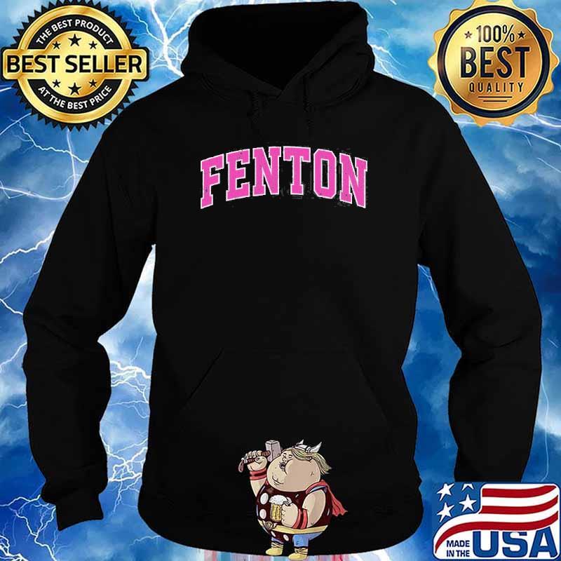 Fenton Michigan Mi Vintage Sports Pink Shirt Hoodie