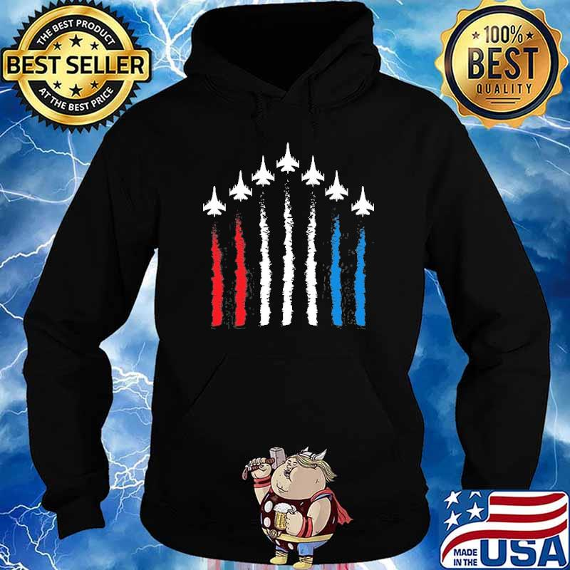 Fighter Jets Red White Blue 4Th July American Flag Shirt Hoodie