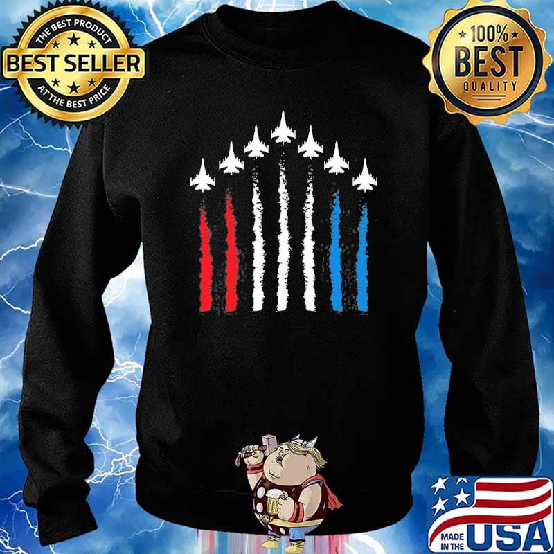 Fighter Jets Red White Blue 4Th July American Flag Shirt Sweater