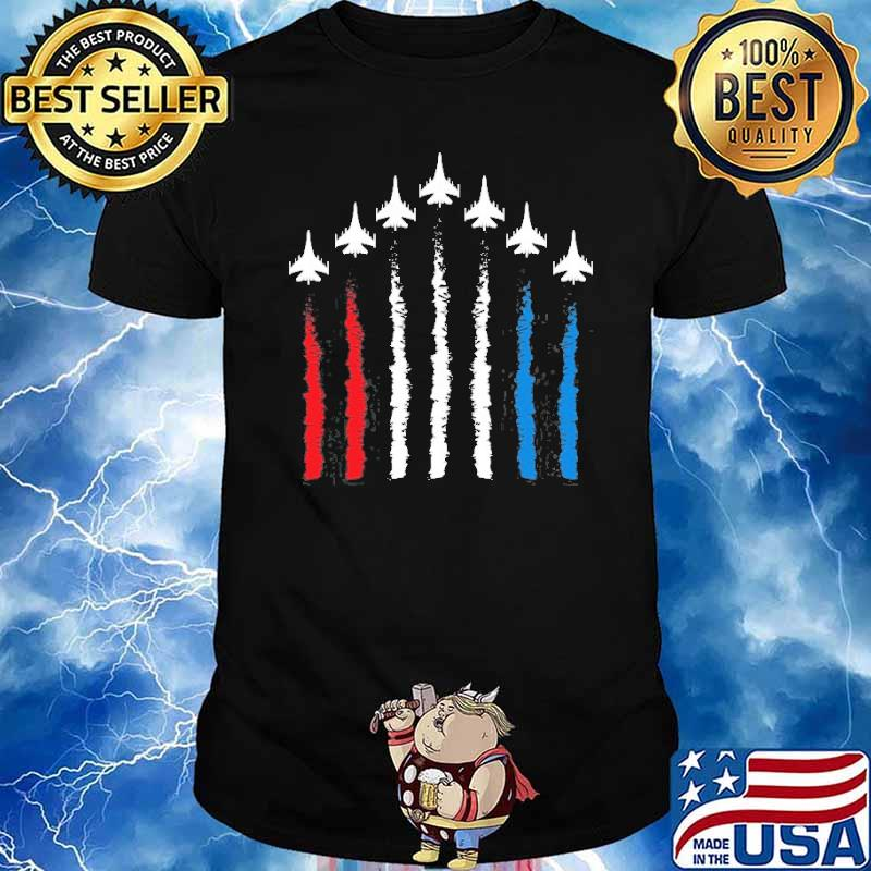 Fighter Jets Red White Blue 4Th July American Flag Shirt