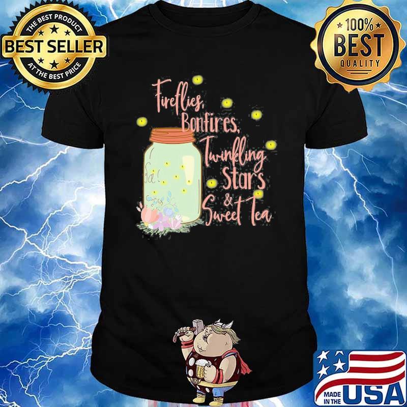 Fireflies Bonfires Twinkling Stars Sweet Tea Flower Shirt
