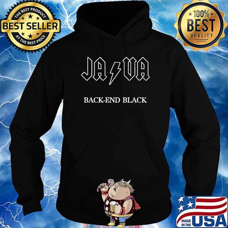 Java Back-End Black Shirt Hoodie
