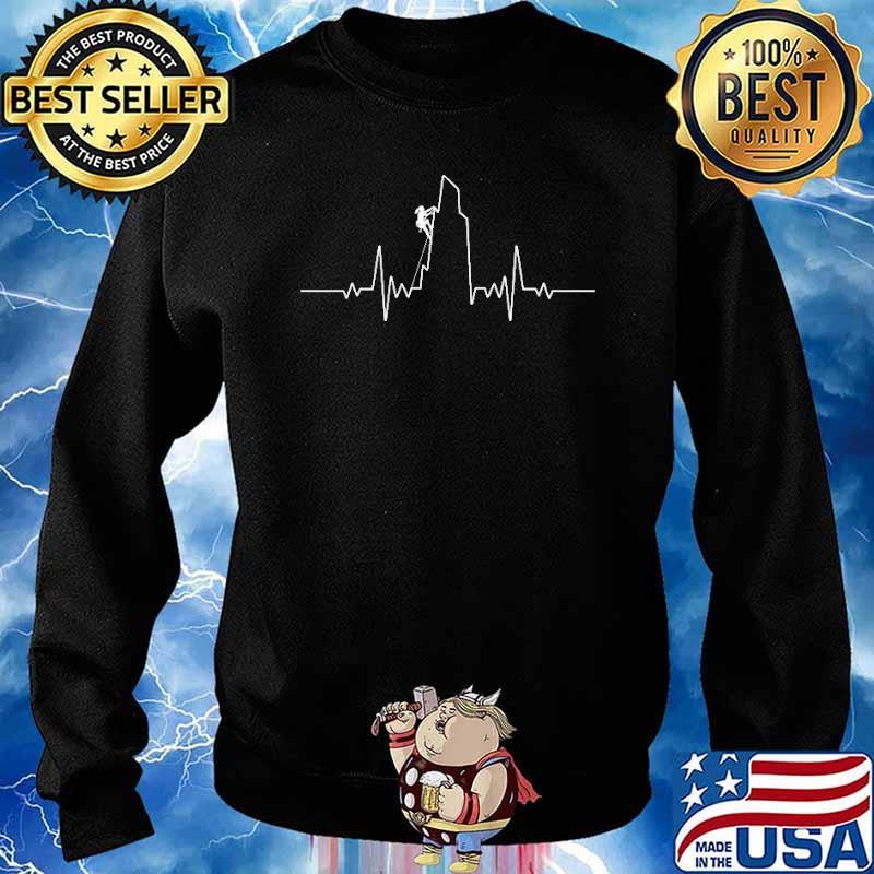 Rock Climbing heart Beat Shirt Sweater