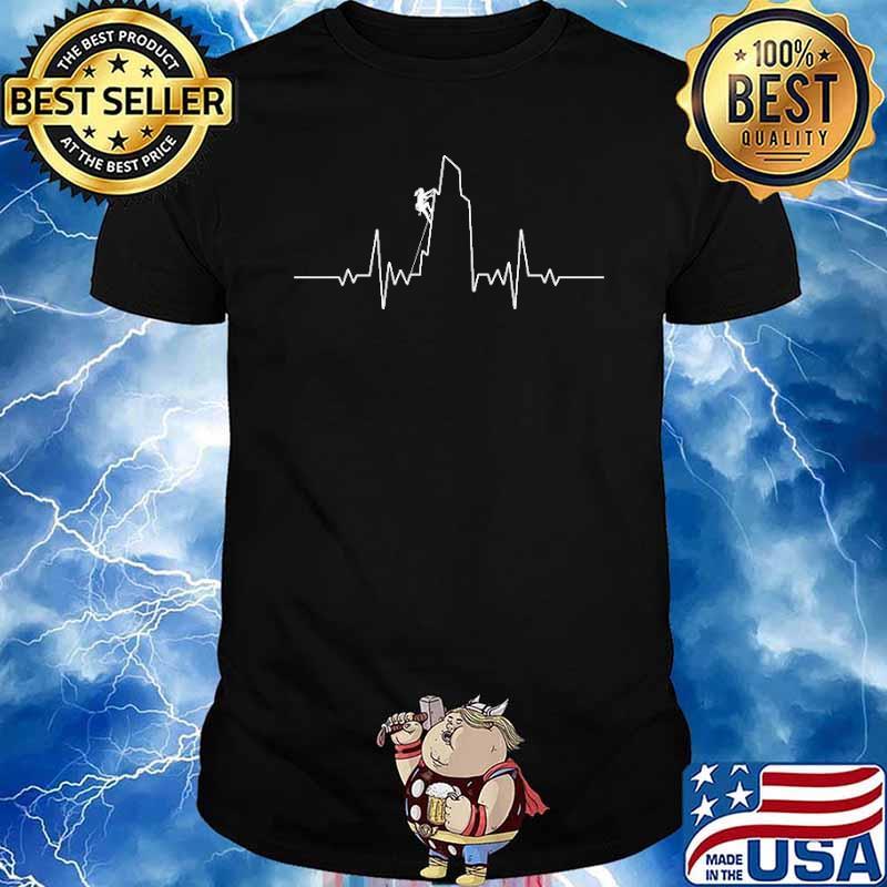 Rock Climbing heart Beat Shirt