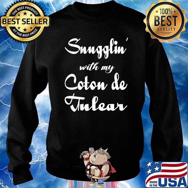 Snugglin with my Coton De Tulear s Sweater