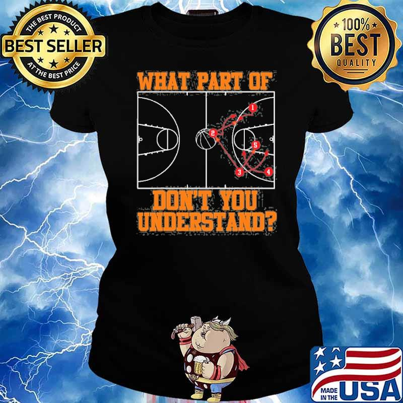 What part of dont you understand basketball Coach Tactic s Ladies tee
