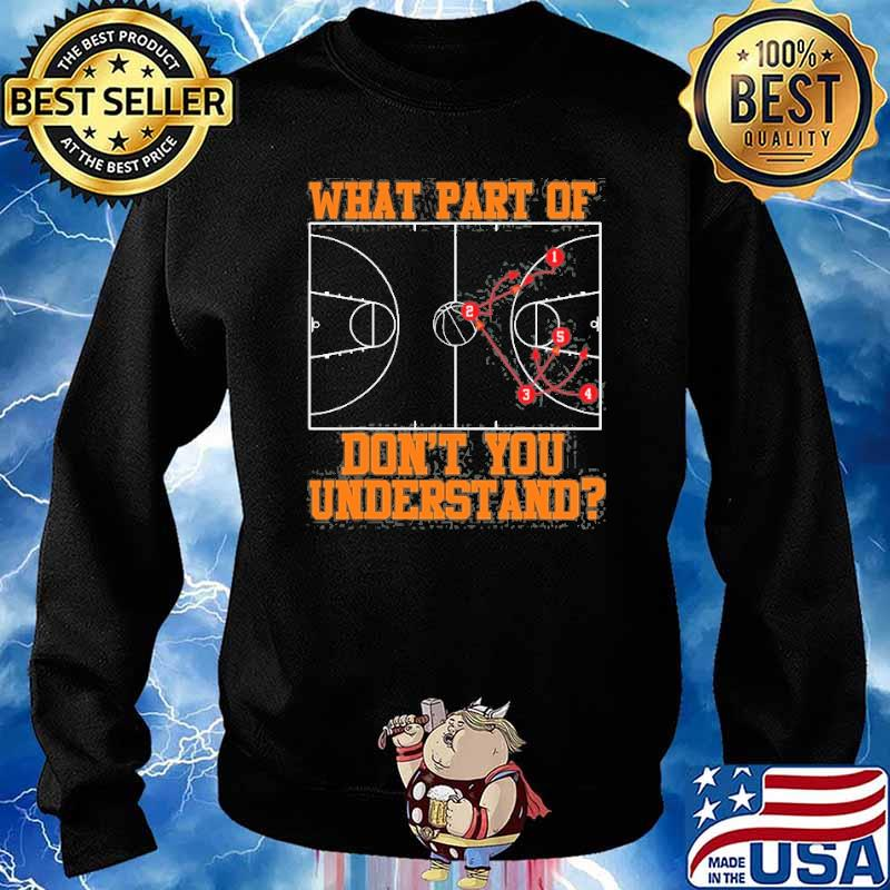 What part of dont you understand basketball Coach Tactic s Sweater