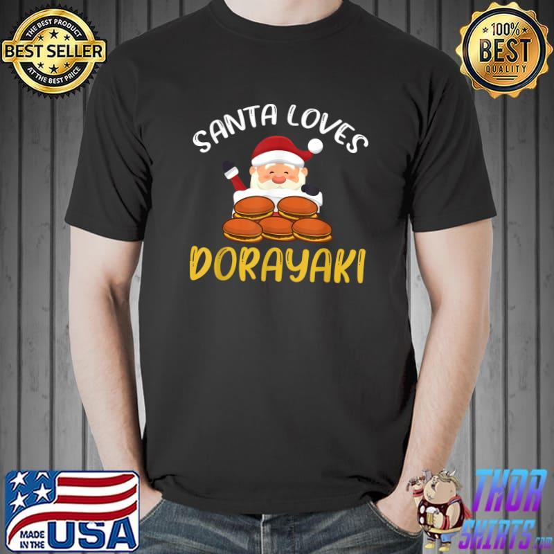 Funny Dorayaki Santa Claus Design Japan Christmas T-Shirt
